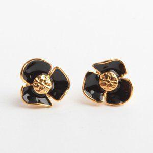 Tory Burch Enamel flower earrings